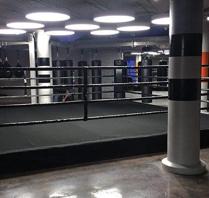 low platform boxing ring